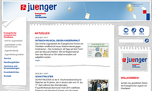 Screenshot der Site www.ev-jugend-westfalen.de